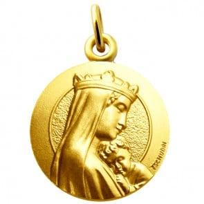 Médaille Vierge à l'Enfant Couronnée Martineau (Or Jaune)