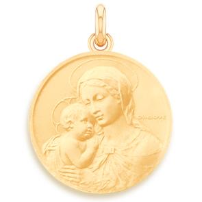 Médaille Vierge à l'Enfant - Botticelli  - medaillle bapteme Becker