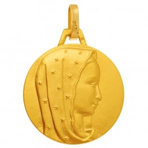 Médaille Vierge au voile étoilé - medaille de bapteme