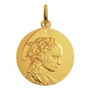 Médaille Madone de Filippo Lippi (Or Jaune)