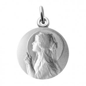 Médaille Vierge en prière (Argent) Martineau