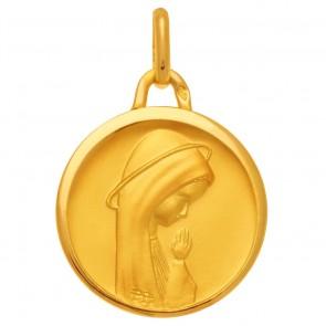 Médaille Vierge en prière auréolée