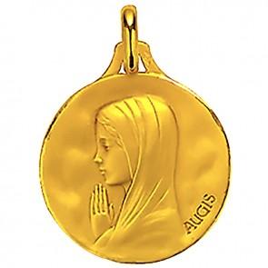Médaille Augis Vierge aux mains jointes