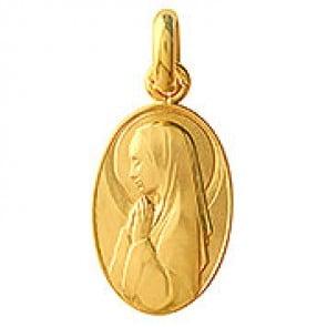 Médaille Vierge en Prières (Or Jaune)
