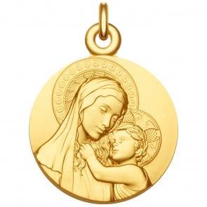Médaille Vierge à l'enfant de Botticelli - Médaille de baptême