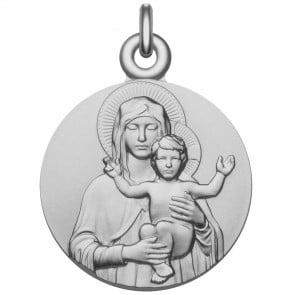 Médaille Vierge à l'Enfant bénissant (Argent)