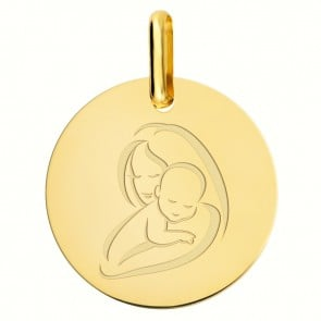 Médaille Vierge à l'Enfant moderne