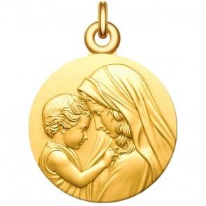 Medaille bapteme Vierge à l'Enfant