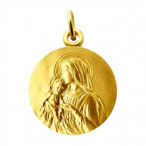 Médaille Vierge et l'enfant Martineau (Vermeil)