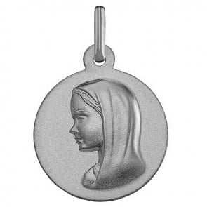 Médaille Vierge moderne (Or Blanc)