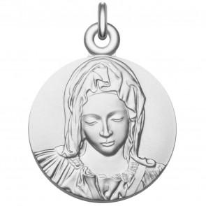 """Médaille Vierge """"La Pieta"""" en argent massif"""