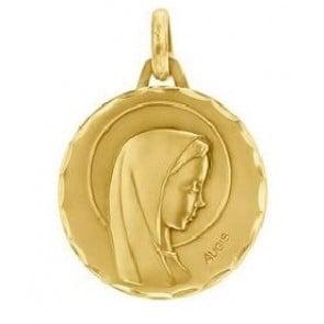 Médaille Vierge aureolée ciselée (Or Jaune)