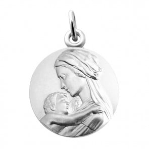 Médaille Vierge et l'enfant tendresse Martineau (Argent)