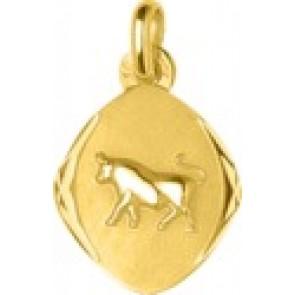 Pendentif Zodiaque Taureau losange (Or jaune)