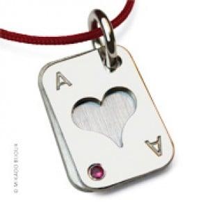 Pendentif Poker Coeur (Argent)