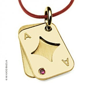 Pendentif Poker Carreau (or Jaune)
