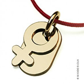 Pendentif Sex Symbol Girl (or Jaune