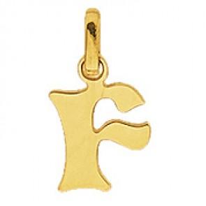 Pendentif Alphabet Lettre F (Or Jaune)