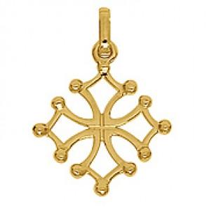 Pendentif Croix du Languedoc (Or Jaune)