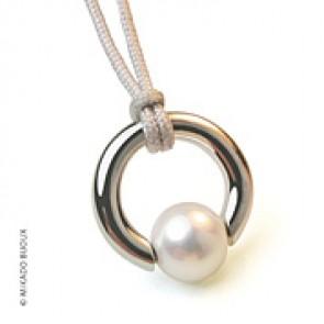 Pendentif Moana (perle blanche d'eau douce) (Argent)