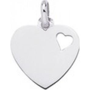 Pendentif Coeur ajouré (Or Blanc)