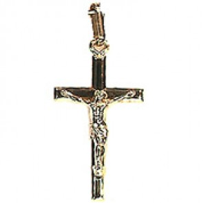 Croix Christ Fil Plat (Or Jaune)