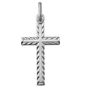 Croix guillochée (Argent)