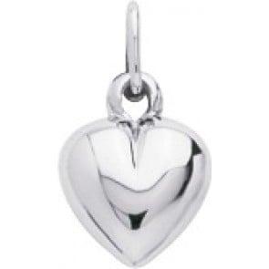 Pendentif Petit Coeur d'Amour (Or Blanc 9k)