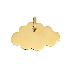 Pendentif Plaque nuage (Or Jaune)