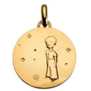 Médaille Petit Prince sur sa planète affinée (Or Jaune)