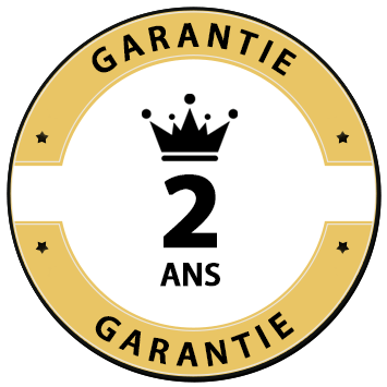 medaille garantie 2 ans